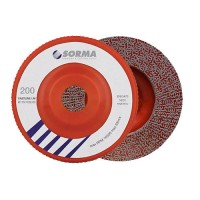 DIAMOND FLAP DISC DRY POLISHING PAD FASTLINE 115 H22,23 RED