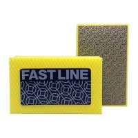 DIAMOND HAND POLISHING PAD FASTLINE® 90X55 YELLOW GRIT 400M