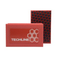 DIAMOND HAND POLISHING PAD TECHLINE 90X55 RED