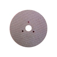 WET POLISHING PAD VELCRO® DISC DIAFACE® 100 H16 + 3F QRS RED FOR MARBLE - GRANITE - CERAMIC - GLASS - ENGINEERED STONE