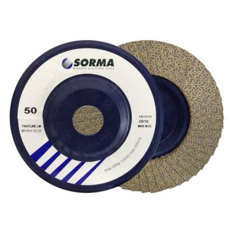SORMA 4,5'' FASTLINE LM DRY POLISHING PADS BLUE GRIT 60
