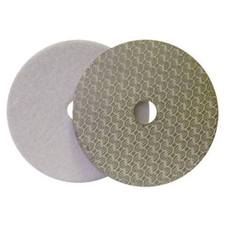DRY DIAMOND POLISHING PAD DRYFACE® MOON 100 H16 QRS WHITE
