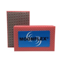 DIAMOND HAND POLISHING PAD MOONFLEX® 90X55 RED METAL